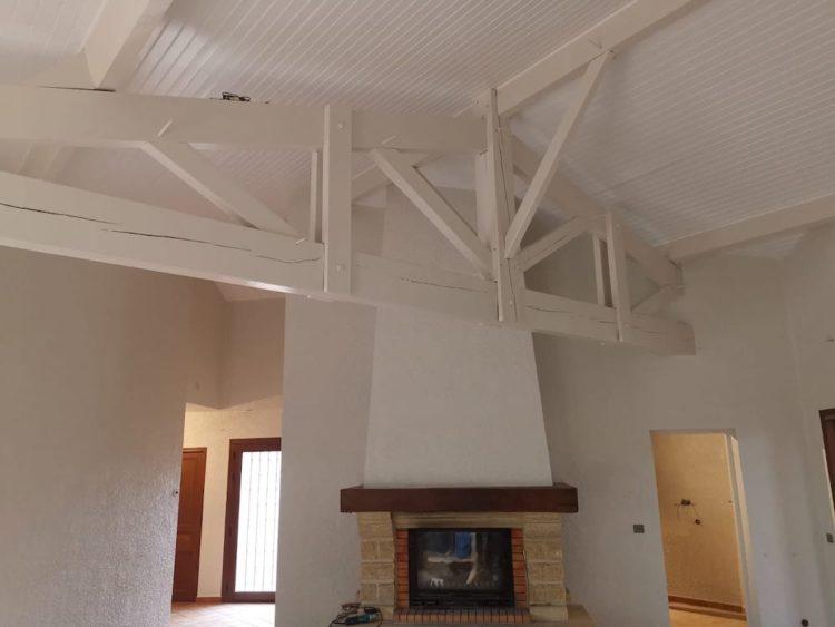Peinture Interieure Maison en Renovation a Lacanau 12